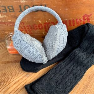 🆕🆕🆕✨CABLE KNIT + FAUX FUR EAR MUFFS✨
